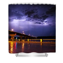 Troubled Skies Shower Curtain