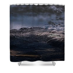 Troubled Waters Shower Curtain
