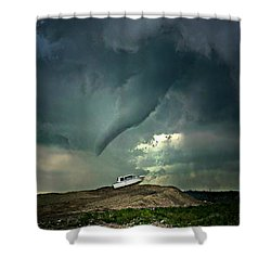 Troubling Times Shower Curtain