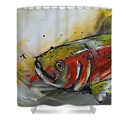 Trout 2 Shower Curtain