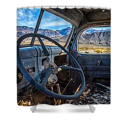Truck Desert View Shower Curtain by Peter Tellone