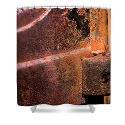 Shower Curtain featuring the photograph Truck Door Hinge by Onyonet  Photo Studios