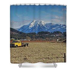 Truck In Harison Mills Shower Curtain