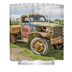 Shower Curtain featuring the photograph Truck Of Many Colors by Sue Smith