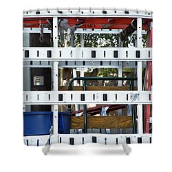 Truck Standing Shower Curtain
