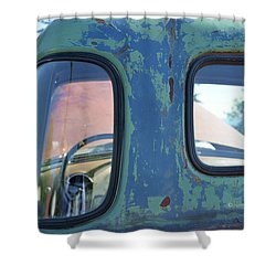 Truck Windows And Rust Shower Curtain