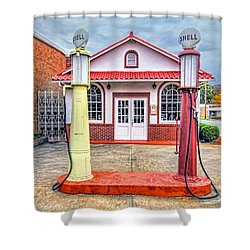 Shower Curtain featuring the photograph Trucking Museum by Marion Johnson