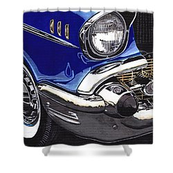 True Blue '57 Shower Curtain