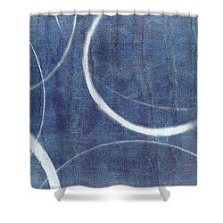 True Blue Ensos Shower Curtain by Julie Niemela