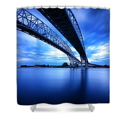 True Blue View Shower Curtain