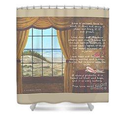 True Love Quote Shower Curtain