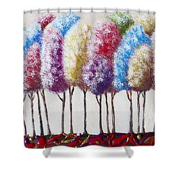 Truffula Forest Shower Curtain by Teresa Wing