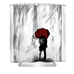 Shower Curtain featuring the painting Truly All Yours by Leslie Allen