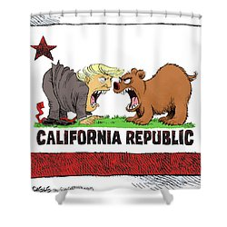Trump And California Face Off Shower Curtain