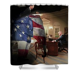 Trump And Comey Shower Curtain