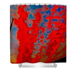 Trump Red Sunset Meets American Flag Shower Curtain