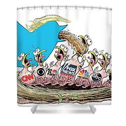 Trump Twitter And Tv News Shower Curtain