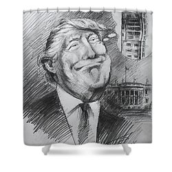 Trump White Tower  Shower Curtain