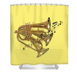 Trumpet Fanfare Shower Curtain