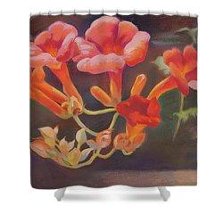 Trumpet Flowers Shower Curtain