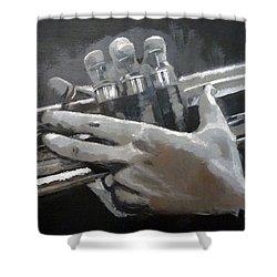 Trumpet Hands Shower Curtain