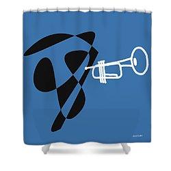 Trumpet In Blue Shower Curtain