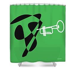 Trumpet In Green Shower Curtain