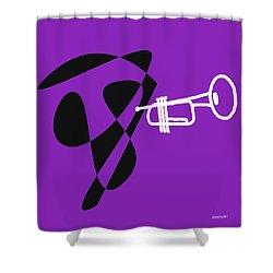 Trumpet In Purple Shower Curtain