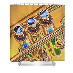 Trumpet Keys Shower Curtain
