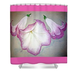 Trumpet Lilies Shower Curtain