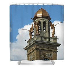 Trumpeting Angels Shower Curtain