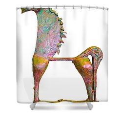 Trumpeting Horse 9 Shower Curtain by Al Goldfarb