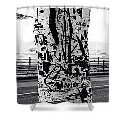 Trunk Art Lisbon Shower Curtain by Lorraine Devon Wilke