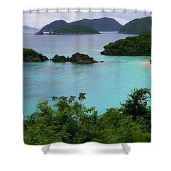 Trunk Bay At U.s. Virgin Islands National Park Shower Curtain