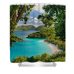 Trunk Bay Shower Curtain