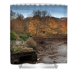 Shower Curtain featuring the photograph Truro River by Brian Roscorla