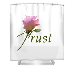 Shower Curtain featuring the digital art Trust by Ann Lauwers