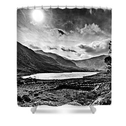 Tryfan And Llyn Ogwen Shower Curtain by Beverly Cash