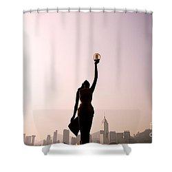 Tsim Sha Tsui K Shower Curtain by Ray Laskowitz - Printscapes