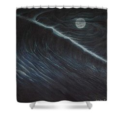 Tsunami Shower Curtain by Angel Ortiz