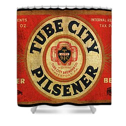 Tube City Pilsner Shower Curtain