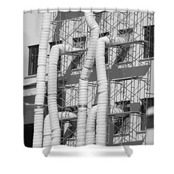 Tube Construction Shower Curtain by Rob Hans
