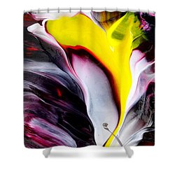 Tublar Rose Shower Curtain by Fred Wilson