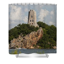 Tucker Tower In Summer Shower Curtain