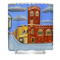 Tudor House In Exeter  Shower Curtain