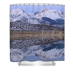 Tufa Dawn Winter Dreamscape Shower Curtain