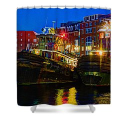 Tug Boat Alley 026 Shower Curtain