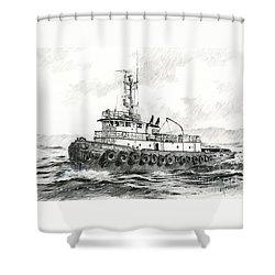 Tugboat Sandra Foss Shower Curtain by James Williamson