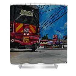 Tuk Tuk Shower Curtain