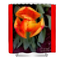 Tulip 1 Honoring Princess Diana Shower Curtain by Richard W Linford